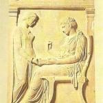 Стела Гегесо. 400 г. до н .э. Древняя Греция