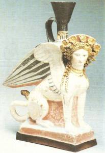 Ваза в виде сфинкса из Фанагории. Рубеж 5-4 вв. до н.э.