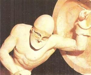 Умирающий воин. Деталь западного храма Афины на Эгине. 500-480 гг. до н.э.