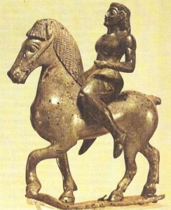 Бронзовая фигурка всадника. 6 век до н.э. Древняя Греция