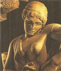 Женщина, борющаяся к кентавром. Фронтон храма Зевса. 460 г. до н.э.