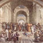 Афинская школа работы Рафаэля Санти