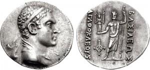 Монета Агафокла. Греко-бактрия