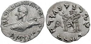 Монета Аминта. Индо-греки