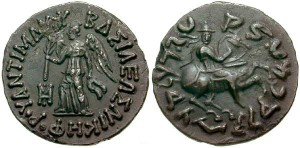 Монета Антимаха II. Греко-бактрия