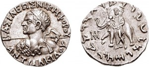 Монета Антиалкида. Индо-греки