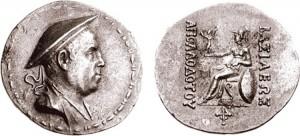 Монета Аполлодота I. Индо-греки