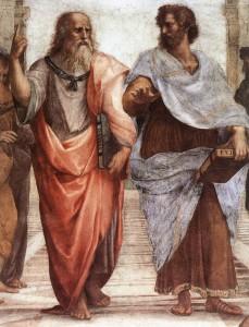 Аристотель и Платон. Часть фрески Афонская школа.