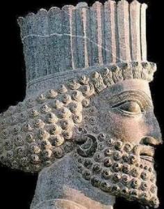 Ашока, в представление персов. Персидский барельеф.