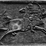Скачущий Ашшурбанипал на охоте