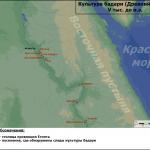 Карта культуры бадари (Древний Египет)