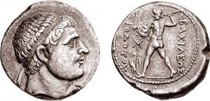 Тетродрахма Диодота II. Греко-бактрия