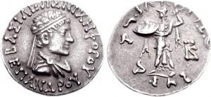 Монета Епандра. Индо-греки