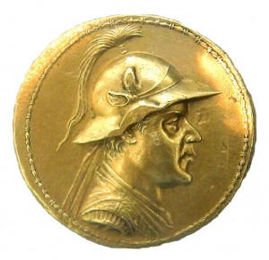 Золотой статор Евкратида I. Греко-бактрия