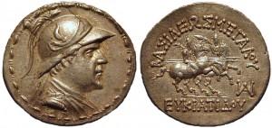 Тетрадрахма Евкратида I. Греко-бактрия