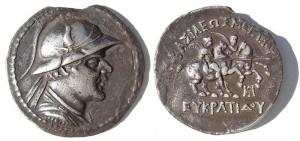 Монета Евкратида. Индо-греки