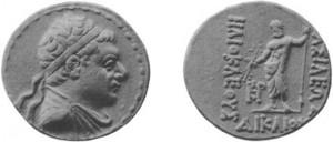 Монета Гелиокла. Греко-бактрия