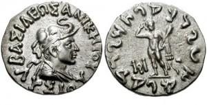 Монета Лисия. Индо-греки