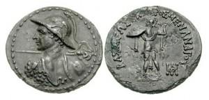Монета Менандра I. Индо-греки