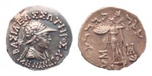 Монета Менандра I. Греко-бактрия