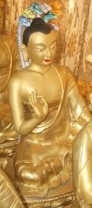 Статуя Нагарджуна в тибетском монастыре близ города Кулу, Индия