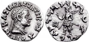 Монета Никия. Индо-греки