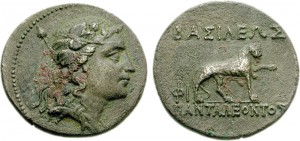 Монета Панталеонта. Греко-бактрия