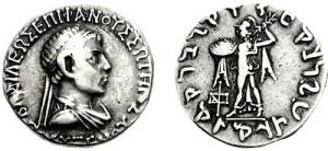 Монета Поликсена. Индо-греки