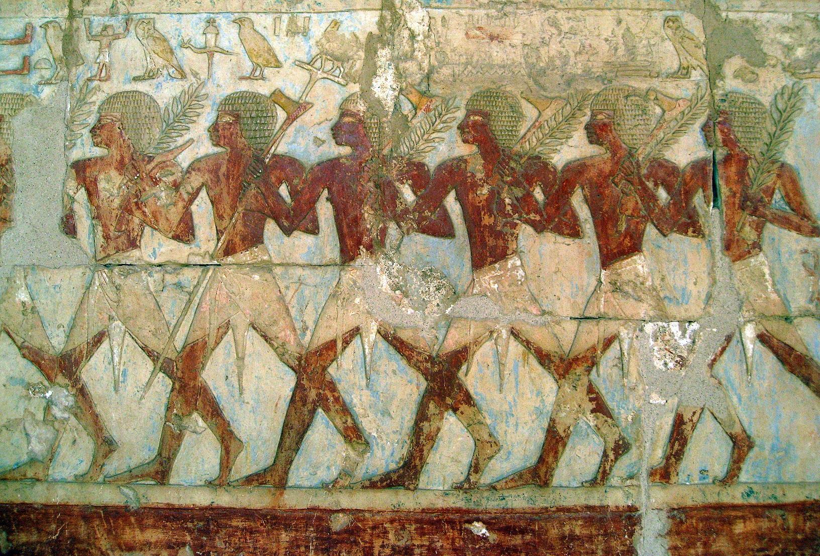 Фрески древнего египта