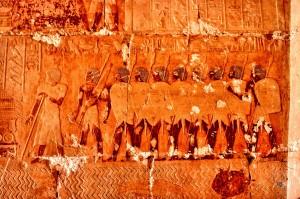 Рельеф, изображающая экспедицию Хатшепсут в страну Пунт