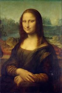 Мона Лиза, работы Леонардо да Винчи между 1503 и 1505 гг. Дерево и масло. . Высота 77 см, ширина 53 см. Находится в музеи Лувра, Париж. Считается шедевром Ренессанса.