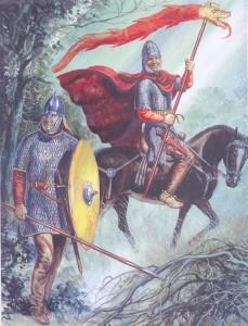 Конный воин языг-драконариий II-III вв. н.э. Сарматский пеший воин, около 300 г. н.э.