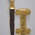 Скифо-сарматский кинжал с инкрустированными ножнами