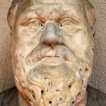 Бюст Сократа. Римская копия II в. до н.э. с греческого оригинала IV в. до н.э. Представлен в Региональном археологическом музее в Палермо, Италия.