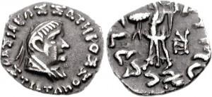 Монета Стратона II. Индо-греки