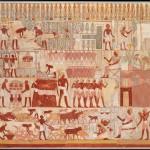 Факсимиле с фрески, из гробницы Небаму