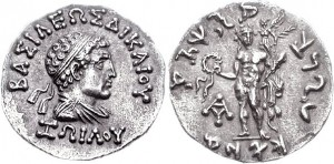 Монета Зоила I. Индо-греки