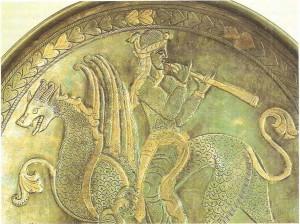 Флейтист на сказочном звере. Сасанидский период