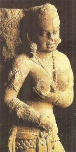 Богиня Лакшми среди Лотосов. Матхура. Эпоха Кушан. 2 век н.э.