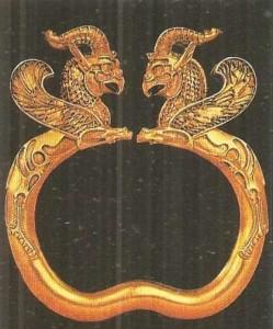 Браслет из Амударьинского клада. 5 век до н.э.