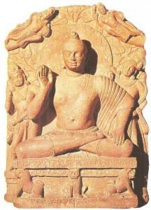 Сидящий Будда. Матхура. Эпоха Кушан. 2 век н.э.