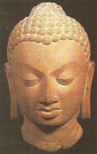 Голова Будды. Гуптский период. 4-5 века.