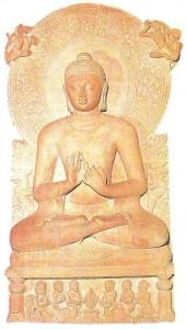 Фигура сидящего Будды. Сарнатх. Гуптский период. 4-5 века
