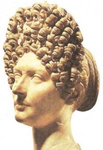 Бюст молодой римлянки. Мрамор. 1 век н.э.
