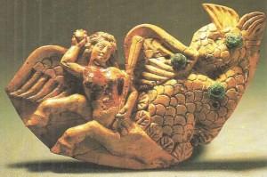 Бутероль с изображением Гиппокампессы. Тахти-Сангин. 2 век до н.э.