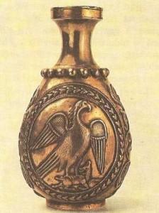 Бутыль с рисунком. Сасанидский период