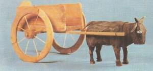 Бык с повозкой. Эпоха Хань, Китай