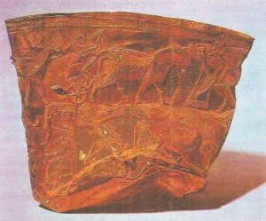 Большая золотая чаша. Хасанлу. Иран