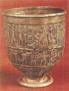 Серебряная чаша из Триалети. Закавказье. 1 тыс до н.э.