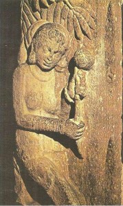 Девушка, собирающая цветы. Матхура. Эпоха Кушан. 2 век н.э.